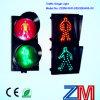 Rojos dinámicos y ponen verde el semáforo de 200/300/400m m que contellea LED para el paso de peatones