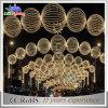 Luz clara da esfera do Natal do diodo emissor de luz do projeto ao ar livre da estrutura do arco da alameda