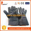 Черные перчатки Dlc408 безопасности Split кожи коровы