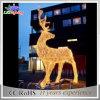 anúncio publicitário 3D ao ar livre feito na rena do Natal de China com luzes da corda