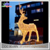 3Dロープライトを持つ屋外のコマーシャルの中国製クリスマスのトナカイ
