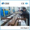 Perfiles de WPC (compuesto plástico de madera) que hacen la máquina