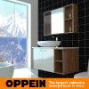 Cabinet de salle de bains en bois classique d'Oppein White&Brown (OP15-121B)