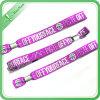 Wristband tejido modificado para requisitos particulares actividad con la diapositiva plástica