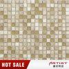 Mosaico del marmo della miscela di cristallo del chip di colore dell'oro piccolo