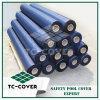 Tissu bleu de la maille pp de la couleur 100%