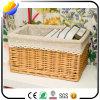 La cesta de mimbre hace el rectángulo de almacenaje a mano de gama alta exquisito