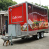 Camion rapide de déplacement de nourriture d'essieux de boissons mobiles double à vendre