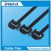 Pleine bille enduite d'acier inoxydable de serres-câble verrouillant des serres-câble