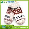 Nueva Doble-Capa de la boca de los guantes de las lanas del invierno que espesa las manoplas calientes