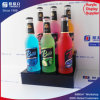 Étalage acrylique de vin de fentes du noir 6, porte-bouteilles de Plexglass