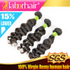 7A Deep brasiliano Wave Unprocessed Virgin Human Hair Extensions in 16