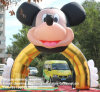 정원 Decoration를 위한 팽창식 Mickey Cartoon Arch Entrance