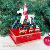 Коробка нот Clockwork коробки нот тряся лошади подарков украшения рождества деревянная
