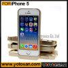 La plus défunte couverture de secours externe d'or rechargeable de cas de puissance de batterie pour l'emballage du détail 5s de l'iPhone 5