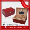 높은 광택 Handmade 나무로 되는 습도계 담배 저장 상자 여송연 상자