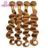 自然なボディ波のカンボジアのバージンのRemyの毛