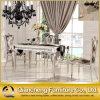 Tabella pranzante superiore dell'acciaio inossidabile della sala da pranzo del marmo moderno della mobilia
