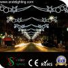Luz ao ar livre da decoração das skylines do feriado do diodo emissor de luz da decoração do Natal da rua