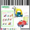 La plastica del supermercato scherza il passeggiatore del bambino del carrello del carrello di acquisto
