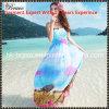 2016人の夏の新しい着かれた方法女性のスラッシュの首のサスペンダーの細い花柄ボヘミアの偶然浜の服(SK1011)