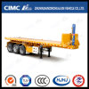 Cimc Huajun 20FT 3axle Flatbed Container Rear Tippingsemi Trailer