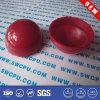 Boule à deux pièces creuse en plastique dur rouge (SWCPU-P-PB051)