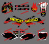 Mini Bike Stickers/Dirt Bike Decal/Motorbike/Motocross Graphics Kit per Honda Crf250r Crf250 Motorcycle 2004 2005 (DST0012)