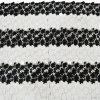 Double lacet 100% de tissu de polyester de couleur 0016
