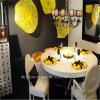 De gele Schotel van het Glas van de Decoratie van de Muur