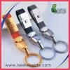 Catena chiave di cuoio reale di fabbricazione del metallo su ordinazione all'ingrosso di promozione