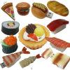 Mecanismo impulsor del flash del USB del diseño del alimento del sushi de la pizza
