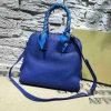 Señoras de bolsos de cuero suaves del Faux del color azul (XD150637)