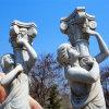 Wit Venus en Beeldhouwwerk van het Standbeeld van de Hoek het Marmeren