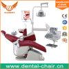 치과의사는 통제되는 완전한 치과 진료소 장비를 착석시킨다