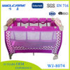Foldable鉄の管の赤ん坊旅行折畳み式ベッド