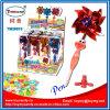 Brinquedo de venda quente de Shantou da pena de esfera do pássaro do moinho de vento com doces