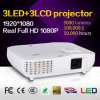 cinema da HOME da alta qualidade 3LED projetor do LCD de 3000 lúmens