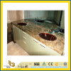 Natural Stone Polished Bathroom Rainforest Green Marble Vanitytop (YQC)