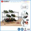 Preço de grosso da mini cremalheira Tabletop ajustável do vinho do metal do fio do cromo