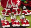 Причудливый декор обеденного стола карманн держателей Silverware украшений рождества Санта