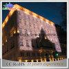 Luz profesional de la cortina del hotel de la decoración de la pared del LED decorativa