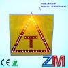 Aluminium LED clignotant sécurité Aider Connexion Flasher / solaire Traffic Sign / solaire Signalisation routière