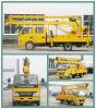 4*2販売のためのオーバーヘッド働くトラックの油圧空気のケージ