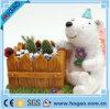 Amontonamiento al aire libre animal de la decoración del pote de flor de la resina del jardín