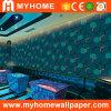 Papel pintado de lujo del diseño 3D del material de construcción para KTV