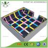 Grand lit de trempoline de sport carré coloré