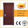 安い価格のシンプルな設計PVC MDFのドア(SC-P080)