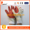 Competitive Price (DCL301)를 가진 빨간 Rubber Coated Cotton Gloves