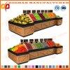 Cremalheira de madeira elegante Zhv11 do Shelving do indicador do vegetal e da fruta do supermercado